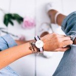 mikutas with her daniel wellington watch