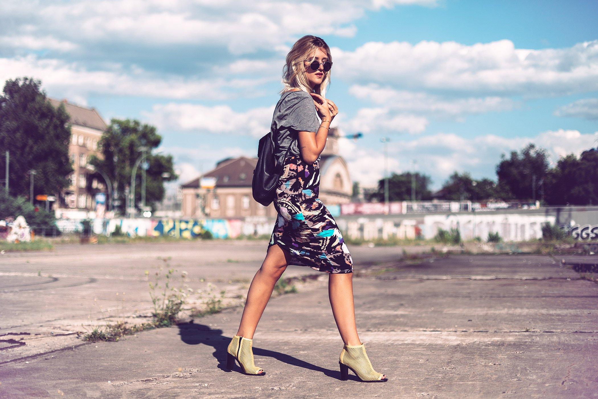 mikuta in monki skirt and bimba y lola shoes