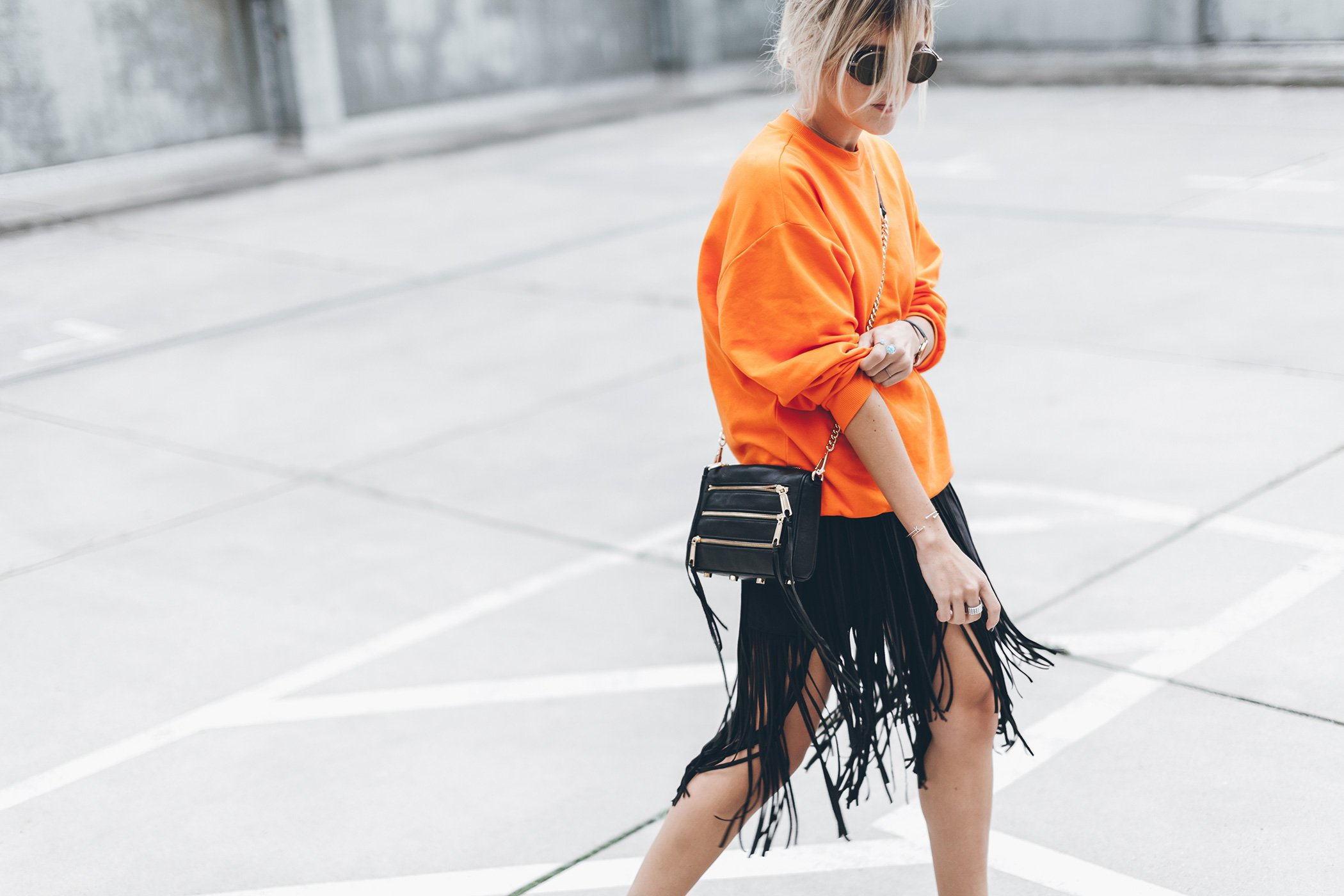 mikuta-fringe-skirt-orange-sweater-2