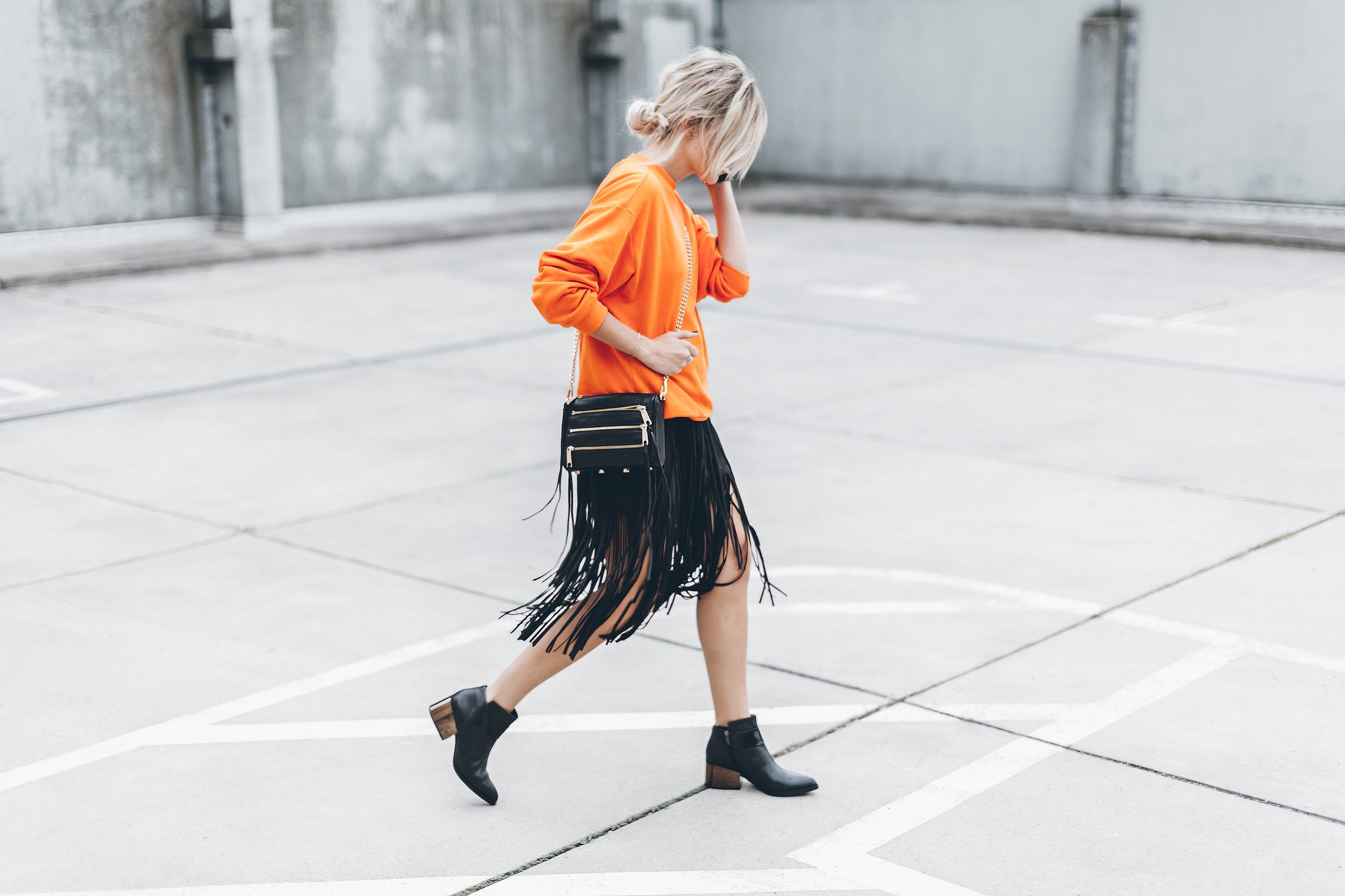 mikuta-fringe-skirt-orange-sweater