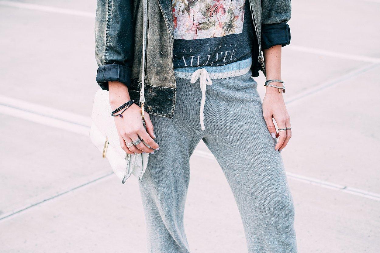 mikuta in her cozy akaknits cashmere pants
