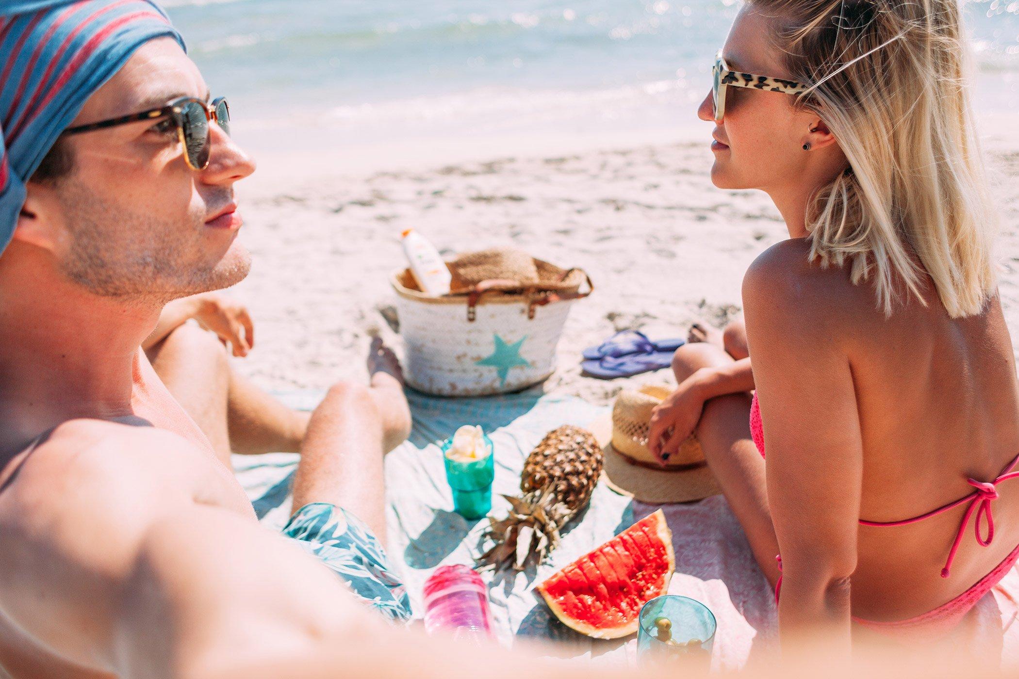 mikutas day on the beach