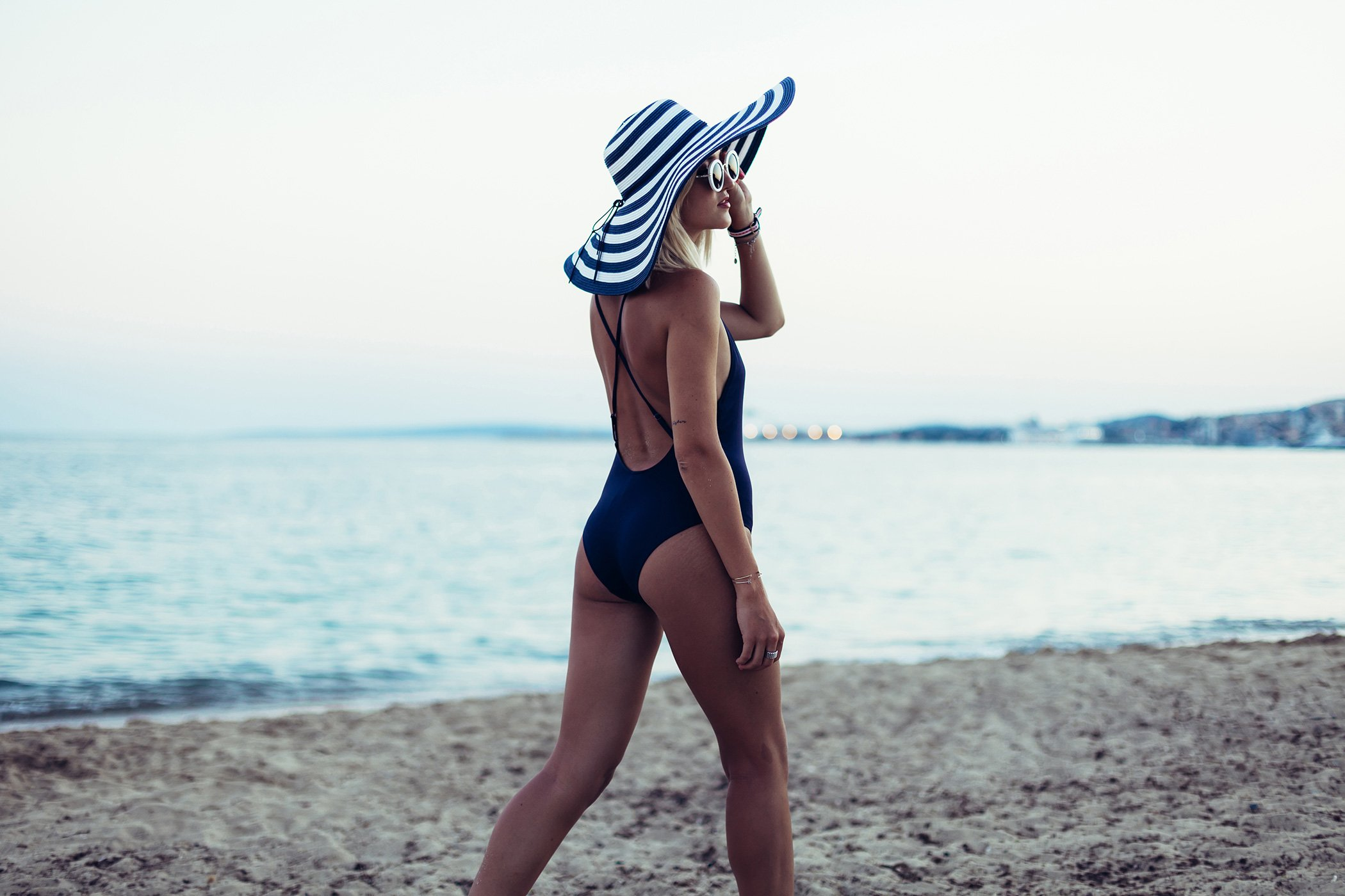mikutas bathing suit and hat outfit
