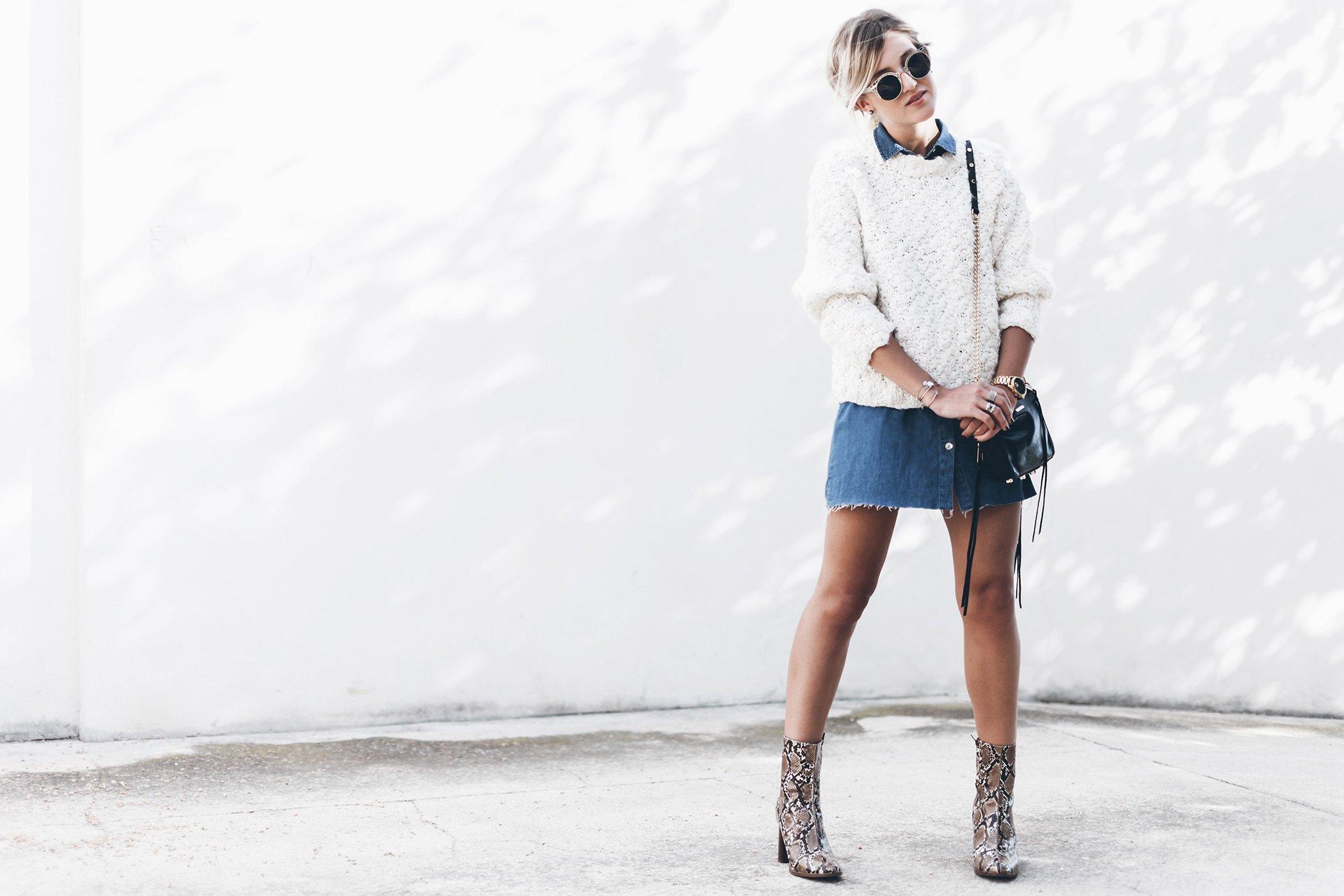 mikuta-snake-boots-and-denim-skirt-1